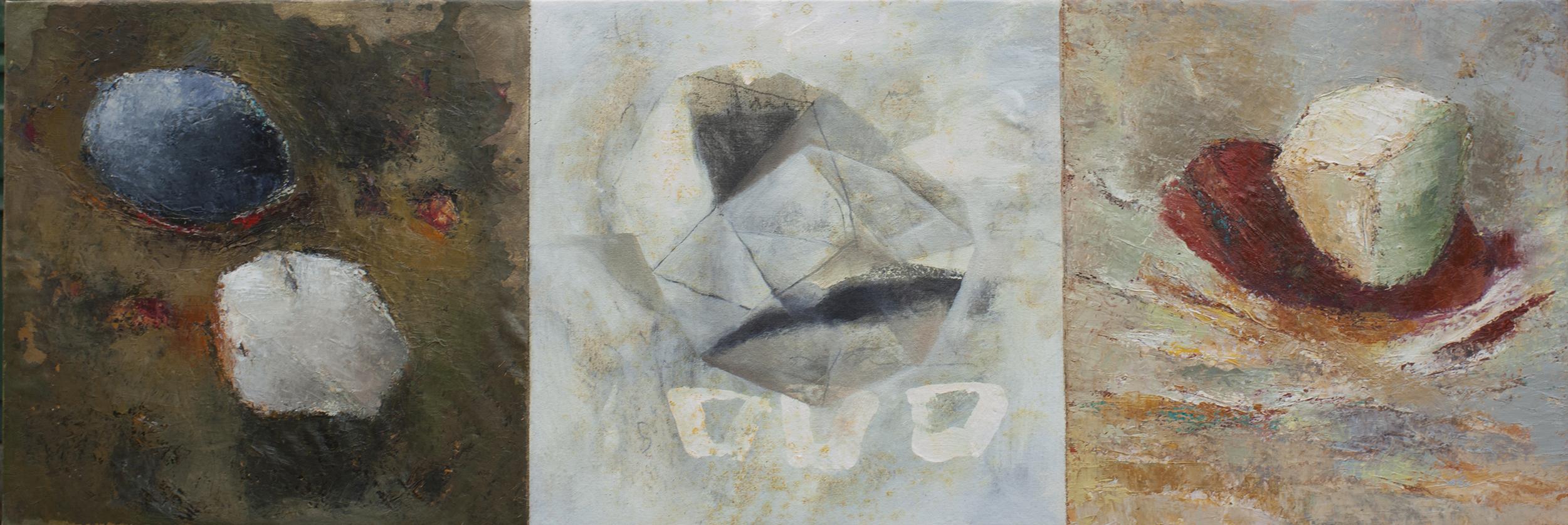 Prisme - triptyque -2017 - huile sur toile (120 x 40 cm)