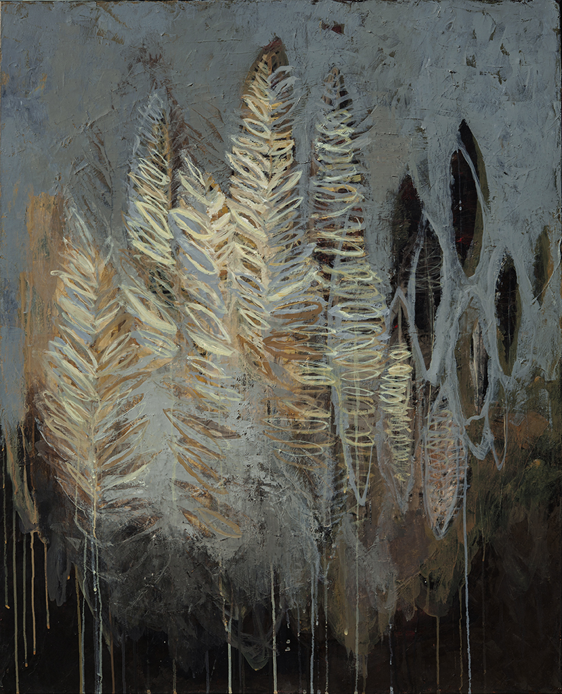 Forêt, 100 x 80 cm, huile sur toile, 2020